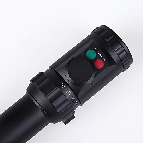 Sniper Rifle Scope 4 Sniper KT 12-60X60 SAL Rifle Scope 35mm Tube Side Parallax Adjustment Glass Etched Reticle Red Green Illuminated with Scope Rings
