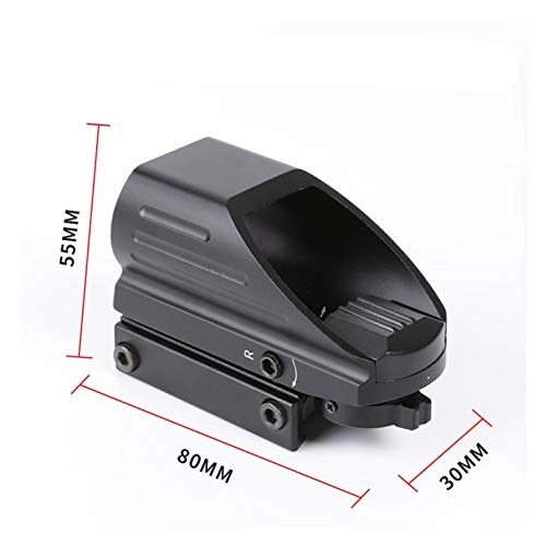 Without Rifle Scope 5 Toy Gun Sight Red dot Sight Magnification Mirror red Green dot Sight Reflection 4 Hunting Accessories Shooting 20 mm Railway Collimator Holographic Sight (Color : Black)