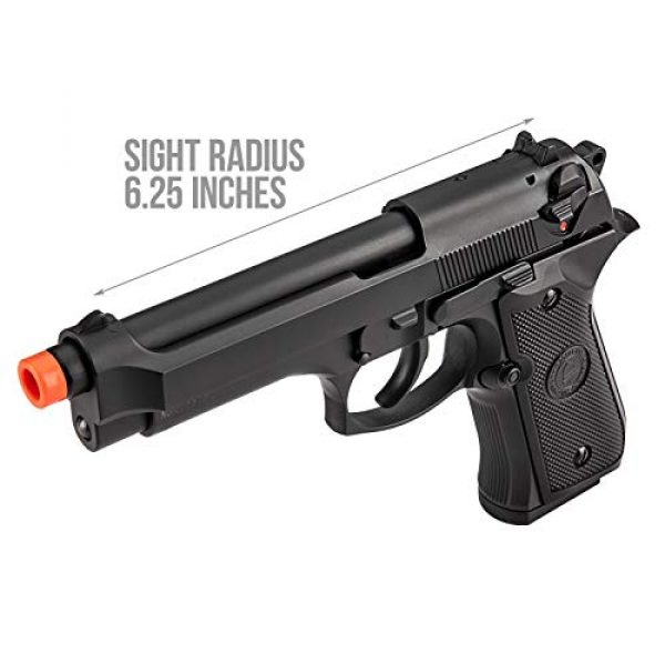 Lancer Tactical Airsoft Pistol 4 Lancer Tactical Double Bell M92 U.S. Army Gas Blowback Airsoft Pistol Black 300 FPS