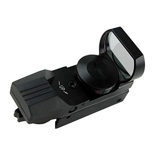 Without Rifle Scope 1 Toy Gun Sight Red dot Sight Magnification Red and Green Dot 4 Reflex Sight (Color : Black)