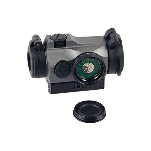 UELEGANS Rifle Scope 5 UELEGANS Outdoor Hunting 1X24 red Green dot Sight red dot Sight Scope with Integral Picaninny-Style Base and flip-up Cover Gry