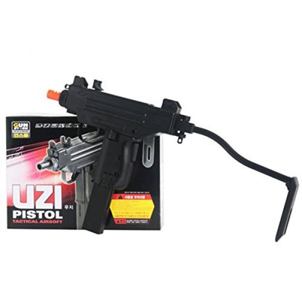 "Gun Storm Airsoft Rifle 1 10"" Uzi Pistol Tactical Airsoft Pistol Toy BB Gun For Ages 14 +"