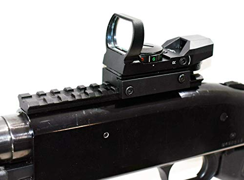 TRINITY Rifle Scope 2 Trinity red Green dot Sight Aluminum Black with Base Mount for mossberg 500 12 Gauge Hunting Optics Tactical Home Defense Accessory Picatinny Weaver Base Mount Adapter Aluminum Black.