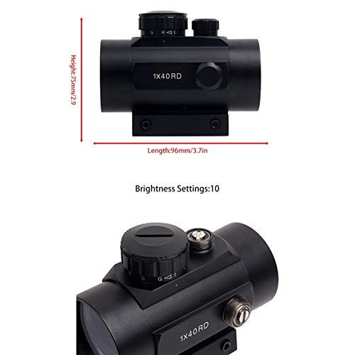 UELEGANS Rifle Scope 5 UELEGANS Red Dot Sight Red & Green 5 Brightness Settings with 11mm/20mm Weaver/Picatinny Rail Mount and Protector Covers Rifle Scope for Hunting