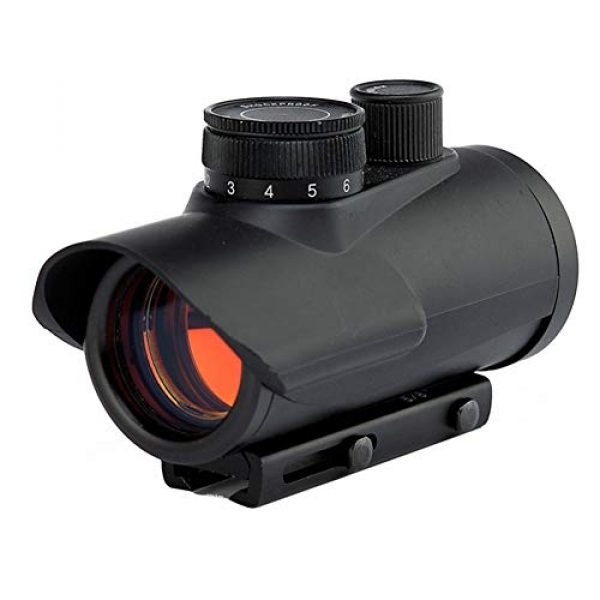 DJym Rifle Scope 1 DJym 30mm Matte Black Finish Red Dot Sight, Scope for Hunting Riflescope