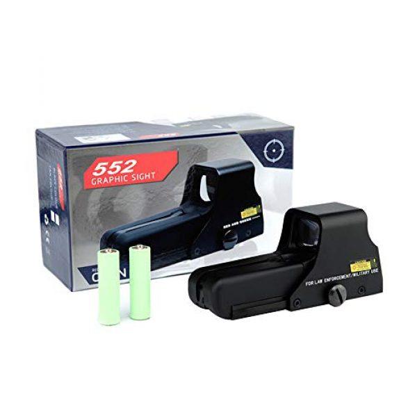 DJym Rifle Scope 5 DJym HD 1X Magnification Red Dot Sight, 22mm Rail Waterproof Shockproof Sight