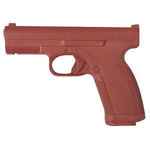 ASP Rubber Training Pistol 1 ASP Red Gun Replica for Training and Practice with Martial Arts, Defense, Props, Tactical, Law Enforcement, and Military