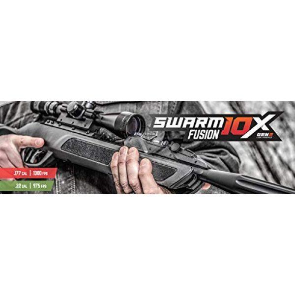 Gamo Air Rifle 6 Gamo 611006335554 Swarm Fusion 10X GEN2 Air Rifle, .22 Caliber,Black