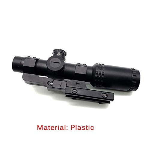 KTAIS Rifle Scope 2 KTAIS 8X Sight Scope Riflescope Green & Red Cross Tactical Hunting Optics Holographic Sight Toy Plastic Gun Accessories (Color : Black)