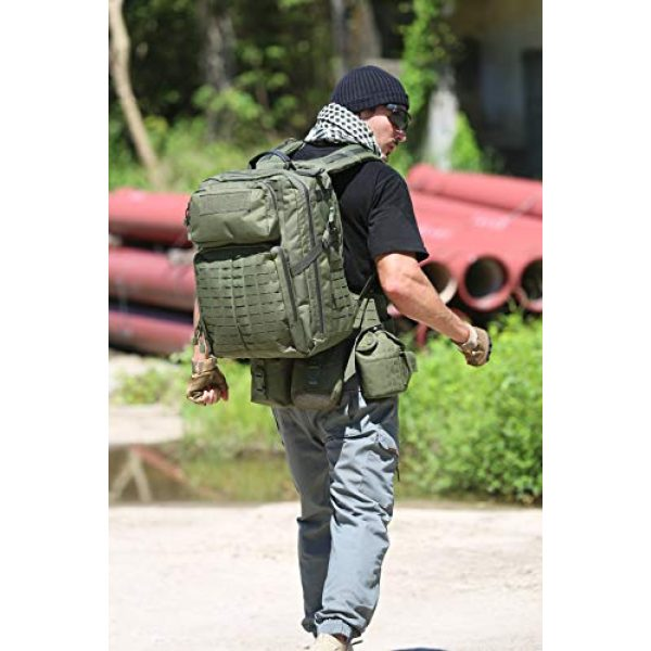 MT Tactical Backpack 7 MT Adventure 48H Military Rucksack MOLLE Tactical Assault Hydration Backpack