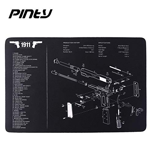 "Pinty Rifle Scope 6 Pinty Rifle Scope 3-9x32 Rangefinder Illuminated Reflex Sight Green Dot Laser Sight & 17""x11"" Handgun Cleaning Mat Detailed Pistol Diagram"