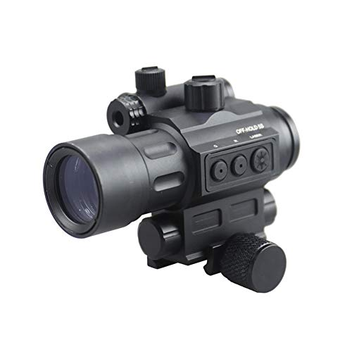 DJym Rifle Scope 1 DJym Advanced Button Red Dot Sight, 1X Waterproof and Anti-Fog Rifle Scope