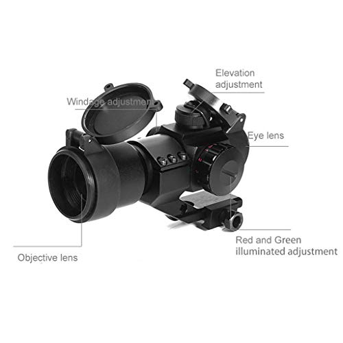 AJDGL Rifle Scope 2 AJDGL 1x30mm Red/Green Dot Sight with Mount- Optics Holographic Reticle Tactical Sight for Hunting Gun Rifle Airsoft Sniper Magnifier