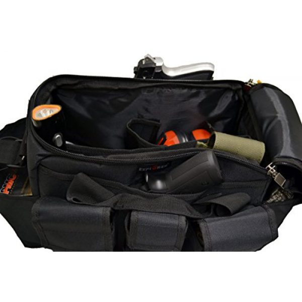 Explorer Tactical Backpack 4 Explorer Tactical Range Bag Bail Out Bag Police Gear Bag Patrol Bag Hunting Shooting Bag, Black