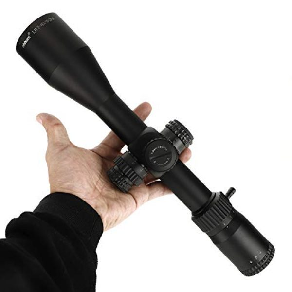ohhunt Rifle Scope 6 ohhunt LR 2-16x50 SFIR Hunting Rifle Scope 30mm Tube Red Illumination Mil Dot Glass Etched Reticle with Mount 1/8 MOA Side Parallax Turrets Lock Reset