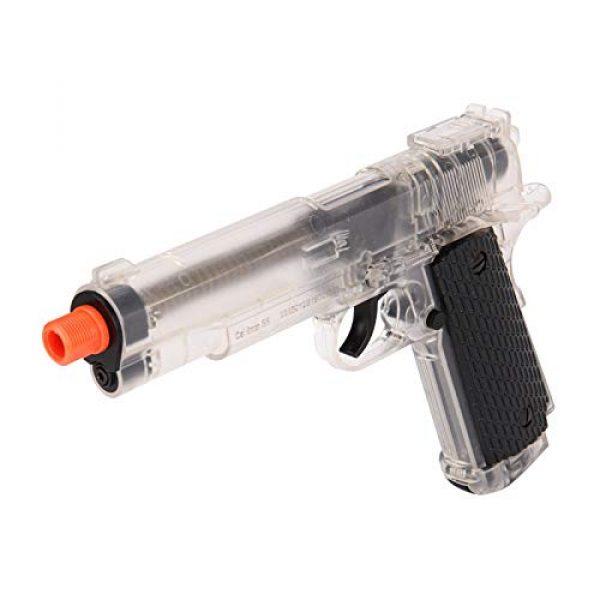 WellFire Airsoft Pistol 4 WellFire G292B-CR M1911 CO2 Airsoft Non-Blowback Pistol Clear