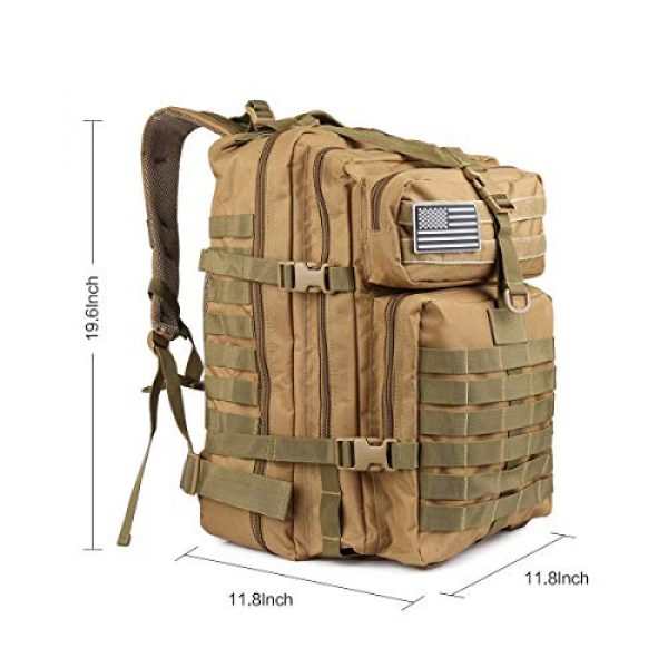 ROARING FIRE Tactical Backpack 2 ROARING FIRE Tactical Backpack, Army Assault Pack, Molle Backpack for The 3 Day Pack, Bug Out Bag 45L