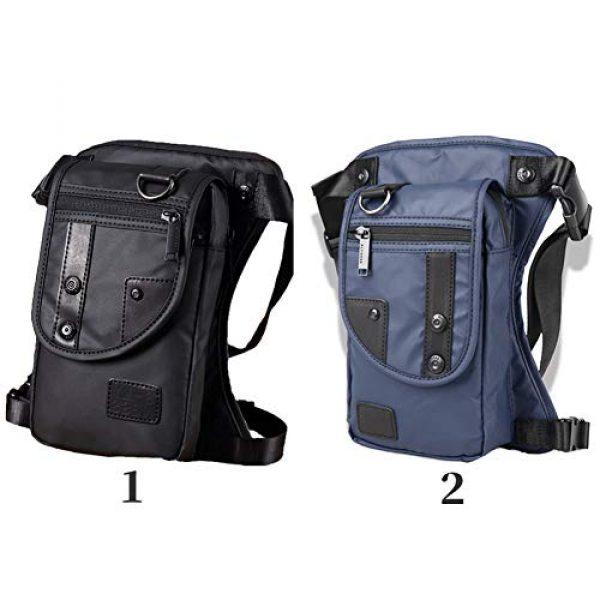 DGHAO Tactical Backpack 4 DGHAO Waist Pack Cross Body with Belt Messenger Waterproof Motorcycle Rider p Purse Men Leg Bags Shoulder Bags(Black)