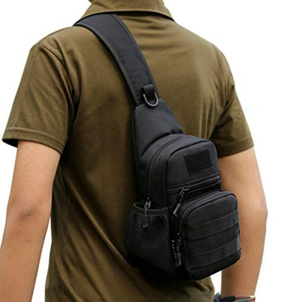 Hebetag Tactical Backpack 5 Hebetag Outdoor Sling Bag Hiking Backpack for Men Women Crossbody Shoulder Chest Day Pack for School Outdoor Travel Business Casual Work Office