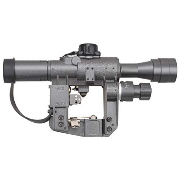 Vector Optics Rifle Scope 5 Vector Optics SVD Dragunov 4x24mm First Focal Plane (FFP) Tactical Riflescope with Red Illuminated Rangefinding Reticle