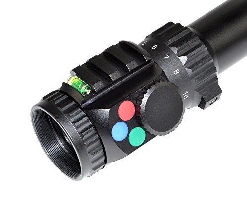 Eastvale Rifle Scope 4 Eastvale 4-16x56SPA Hunting Rifle Scope with Fully-Coated Wire Mil-Dot Red, Green and Blue Illuminated Reticle