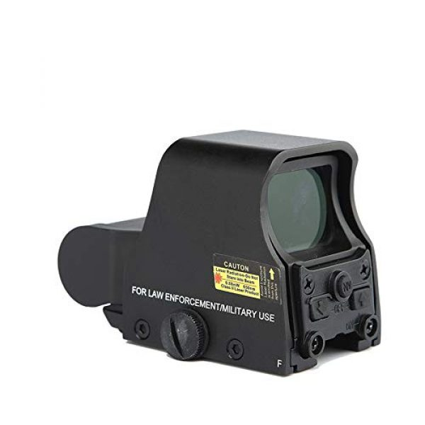 DJym Rifle Scope 3 DJym HD Fast Aiming Accessories, Red Dot Sights Waterproof Shockproof 22mm Rail