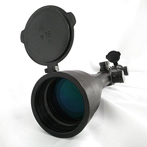 SECOZOOM Rifle Scope 4 SECOZOOM Optics 4-50x75mm New Mil Dot Reticle Optical Sight Big Wide Field of View Military Riflescope Hunting Tactical Optical Sights .50BMG w 35mm mounts and Sunshade