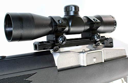 TRINITY Rifle Scope 1 TRINITY Hunting Scope and Mount for Ruger Mini 14 Mini 30 Tactical Optics Aluminum Black Picatinny Weaver Base Mount Adapter