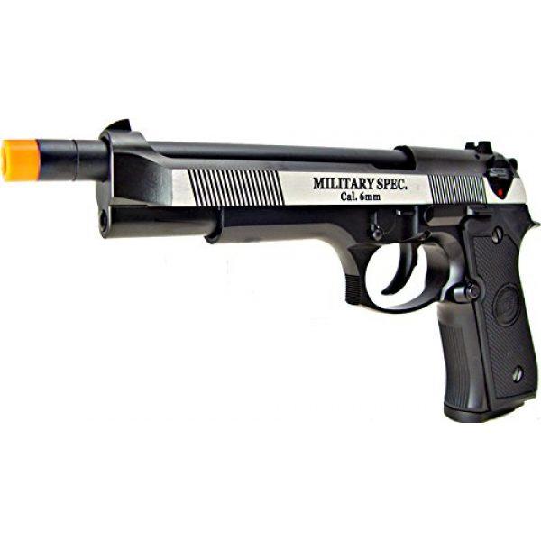 WE Airsoft Pistol 4 WE m92 long-a gas/co2 blowback full metal - black(Airsoft Gun)