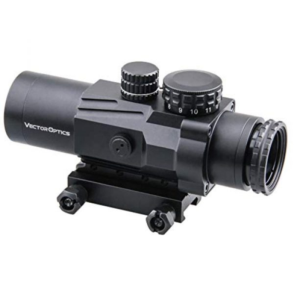 Vector Optics Rifle Scope 1 Vector Optics Calypos 3x32mm, 1/2 MOA, Red Illuminated BDC Reticel, Second Focal Plane (SFP) Compact Tactical Prism Riflescope
