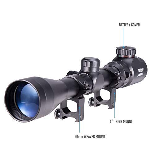 Pinty Rifle Scope 3 Pinty 3-9X40 Red Green Rangefinder Illuminated Optical Rifle Scope