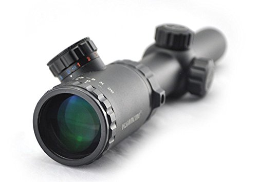 Visionking Rifle Scope 4 Visionking Rifle Scope 1.25-5x26 Red and Blue Illuminated Mil-dot Riflescope IR Hunting Riflescopes for Color Black