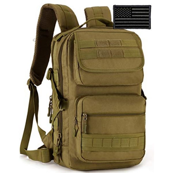 Protector Plus Tactical Backpack 1 Protector Plus Tactical Motorcycle Backpack Small Military MOLLE Cycling Daypack Army Assault Pack Bug Out Bag Hiking Camping Rucksack (Rain Cover & Patch Included)