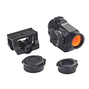 UELEGANS Rifle Scope 1 UELEGANS Outdoor Hunting 1X24 red Green dot Sight red dot Sight Scope with Integral Picaninny-Style Base and flip-up Cover