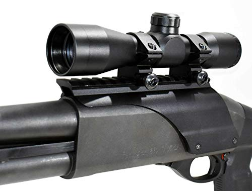 TRINITY Rifle Scope 1 TRINITY Tactical 4x32 rangefinder Sight for Remington 870 12ga Home Defense Tactical Optics Hunting Accessory Aluminum Black Picatinny Weaver Base Adapter Single Rail Mount.