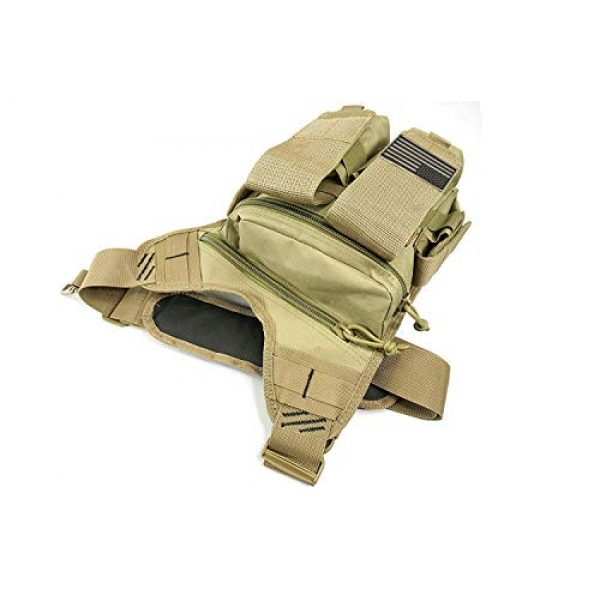 K-Cliffs Tactical Backpack 2 Rapid Deployment Push Pack Tactical Range Bag Responders Utility Sling Bags Tan