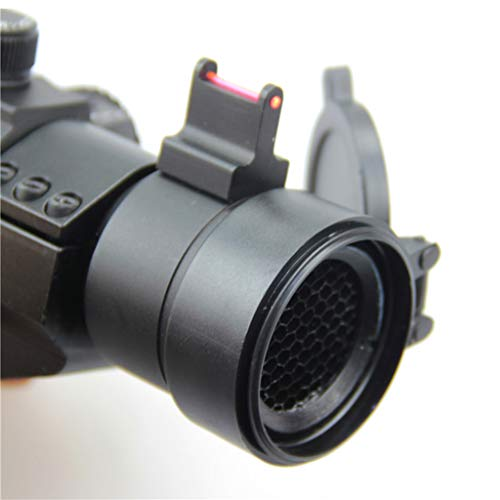 AJDGL Rifle Scope 3 AJDGL 1X30mm Tactical Red Dot Sight Scope- Rapid Ranging Reticle Fiber Optic Front Sight with Picatinny Rails for Rifle Hunting