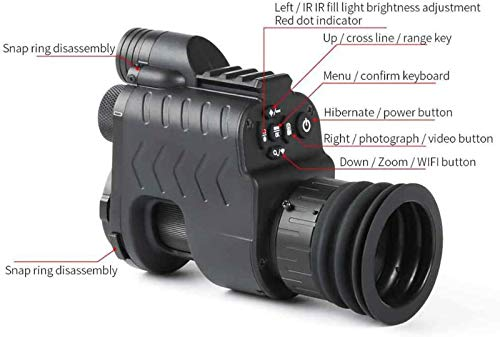 TTHU Rifle Scope 2 TTHU Rifle Scope Digital Video Recording Hunting Night Vision Monocular Camera VCR with 850Nm Infrared IR Flashlight for Outdoor Tactical Rifle Hunting