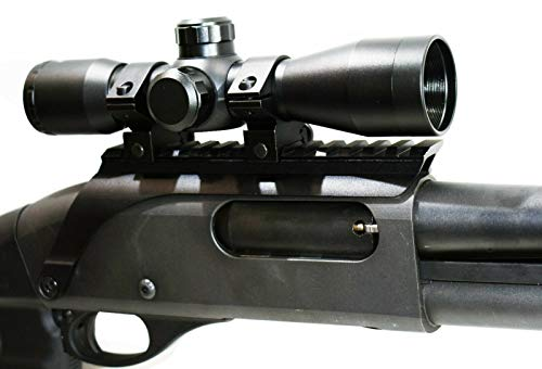 TRINITY Rifle Scope 2 TRINITY Tactical 4x32 rangefinder Sight for Remington 870 12ga Home Defense Tactical Optics Hunting Accessory Aluminum Black Picatinny Weaver Base Adapter Single Rail Mount.