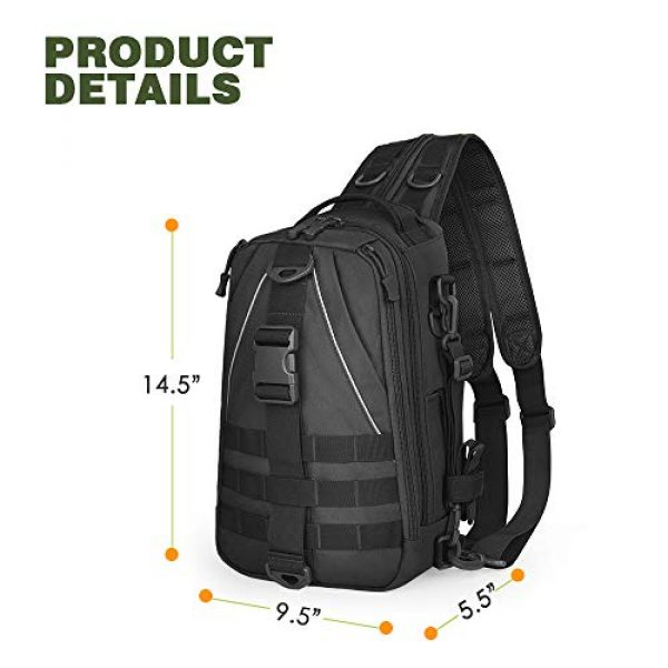 EUTOPETIAN Tactical Backpack 4 EUTOPETIAN Tactical-Backpack for Survival Military-Assault Pack Molle-Rucksack Bag Gear for Outdoor Hiking Camping