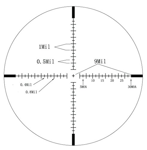 Hammers Rifle Scope 3 Hammers 1inch Tube 4-16x40 Side Focus 1st First Focal Plane FFP Range Finding Jumbo Wheel Side Focus Rifle Scope with Green Red Illuminated Range Etched Glass Reticle