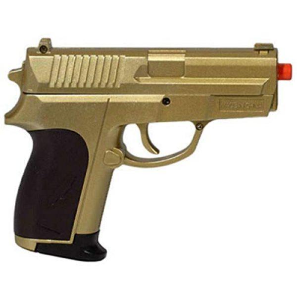 MilSim Airsoft Pistol 4 Twin Spring Dual Airsoft Pistol Combo Pack Set Hand Gun w/Case 6mm BB BBS
