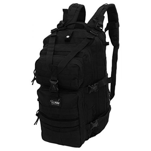 NPUSA Tactical Backpack 2 Mens 18 Inch Molle Hydration Ready Tactical Gear Daypack Backpack + Key Ring Carabiner