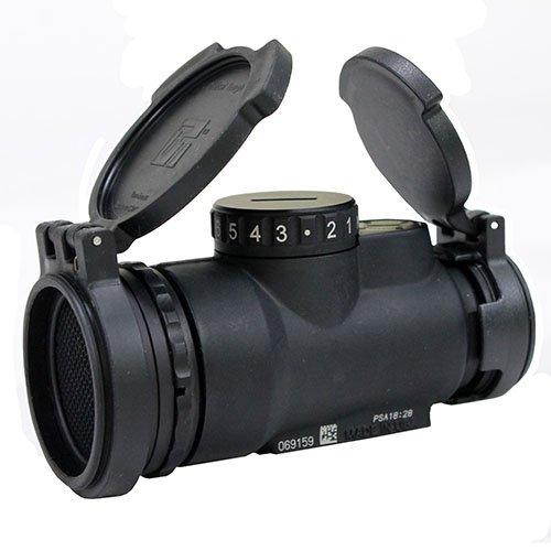 Trijicon Rifle Scope 1 Trijicon MRO-C-2200017 1x25mm Patrol Riflescope with Miniature Rifle Optic (Mro), 2.0 MOA Adjustable Red Dot Reticle (Without Mount), Black