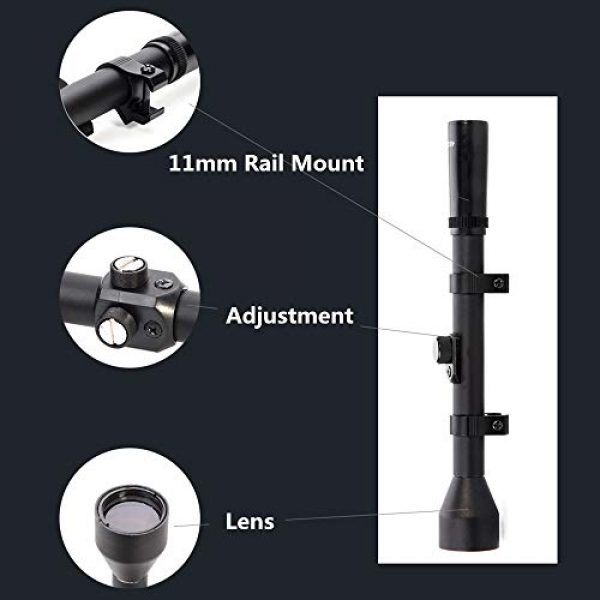 Luger Rifle Scope 3 Luger Tactical 4X Rifle Scope Hunting Shooting Outdoor Sports Game Toy Accessories