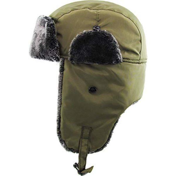 KBETHOS Tactical Hat 4 Basic Solid Blank Aviator Trapper hat Trooper Ear Flaps Ushanka Eskimo Bomber Russian Warm Winter Cold