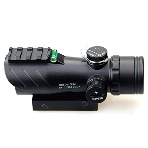 DJym Rifle Scope 2 DJym Red Dot Sight with Air Level, Parallax Free Unlimited Eye Relief Usefriendly for Close Range Hunting and Shooting