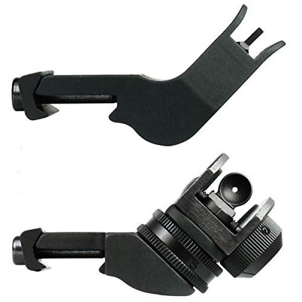 KTAIS Rifle Sight 1 KTAIS US 45 Degree Offset Front&Rear Rapid Transition BUIS Adjustable Iron Sight Set (Color : Black)
