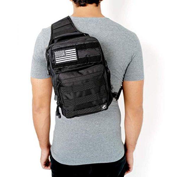 Gecko Equipments Tactical Backpack 1 Gecko Tactical Sling Backpack, Small Military Bag, Free American Flag Patch & Bottle Opener. Molle shooting range shoulder bag.