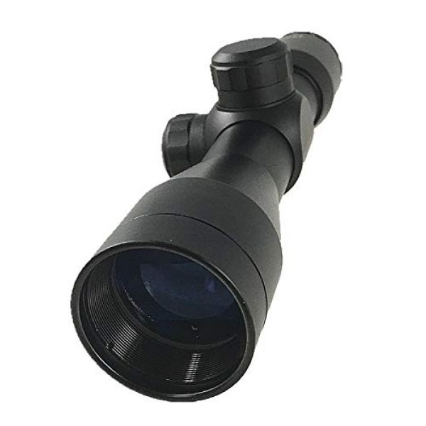DB TAC INC Rifle Scope 7 DB TAC 4x32 Anodize Black Color Mil-dot Reticle Slug Scope Picatinny Weaver Mounted Aluminum Hunting Optics Accessory.